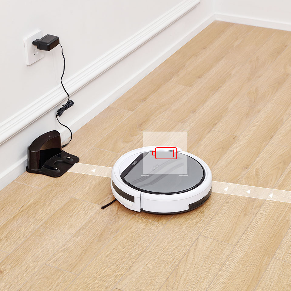 ILIFE V60 Pro Robot Vacuum Cleaner Sweep Wet Mopping Cleaning  Hard Floor automatic Powerful Suction Ultra Thin disinfection 4