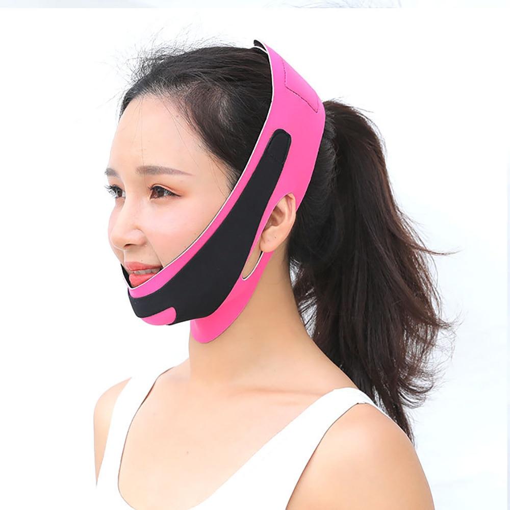 Elastic Face Slimming Bandage V Line Face Shaper Women Chin Cheek Lift Up Belt Facial Massage Strap Face Skin Care Beauty Tools 3