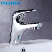 Olinia bateria do łazienki dotknij kran prysznic kran wanna pojedynczy uchwyt współczesny do kranu łazienkowego zlew kran z mieszaczem wody OL7191