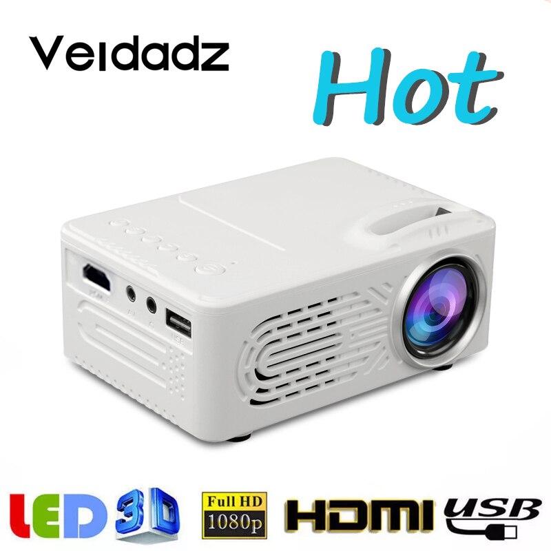 VEIDADZ – Mini Projection Portable LED 814, avec USB, projecteur média domestique, prend en charge le lecteur 1080P, haut-parleur intégré