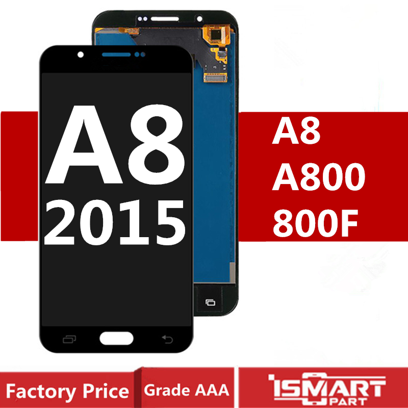 AMOLED Display For Samsung Galaxy A8 2015 <font><b>LCD</b></font> with Touch Screen Digitizer Assembly A800 <font><b>A8000</b></font> A800F <font><b>LCD</b></font> Replacement image