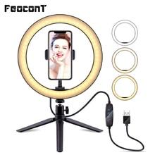 26cm/10 zoll Ring Lampe Kamera Ring Licht Stehen Handy Halter Für Live Stream/make up/youtube Video/fotografie
