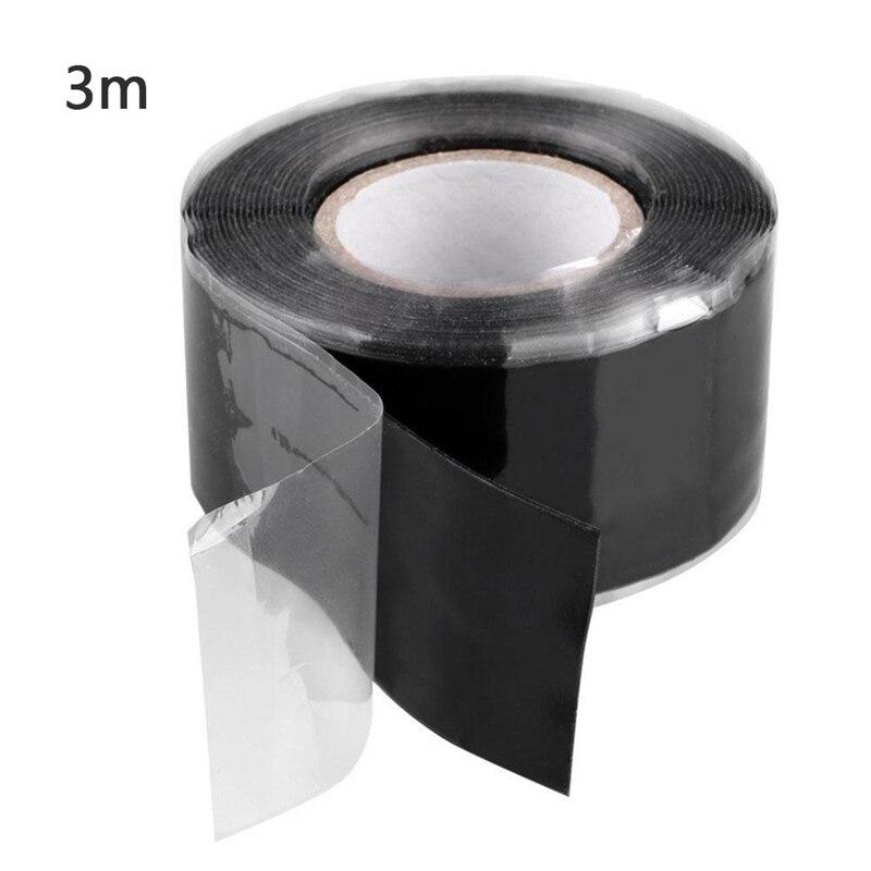 Best Door Sealing Silicone Sealing Tape Black High Temperature Self-Adhesive Silicone Tape Electrical Parts Tube Repair Sealing Waterproof Black Silicone Repair Tape