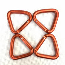 Triangle Carabiner Hook Keychain Buckle Hiking Outdoor Camping Kettle Snap-Clip 3pcs/5pcs