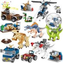 Huiqibao игрушки 714 шт динозавры серии фильмов строительные