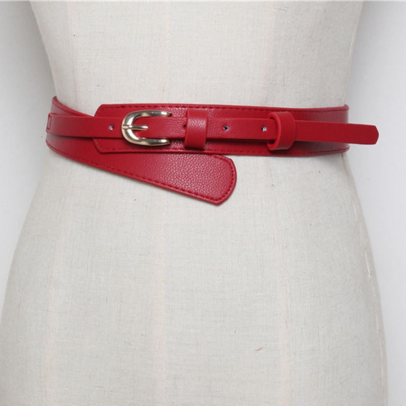 LANMREM 2020 New Fashion Versatile Simple Pin Buckle PU Leather With Dress Jacket Solid Color Belt Girdle PC205