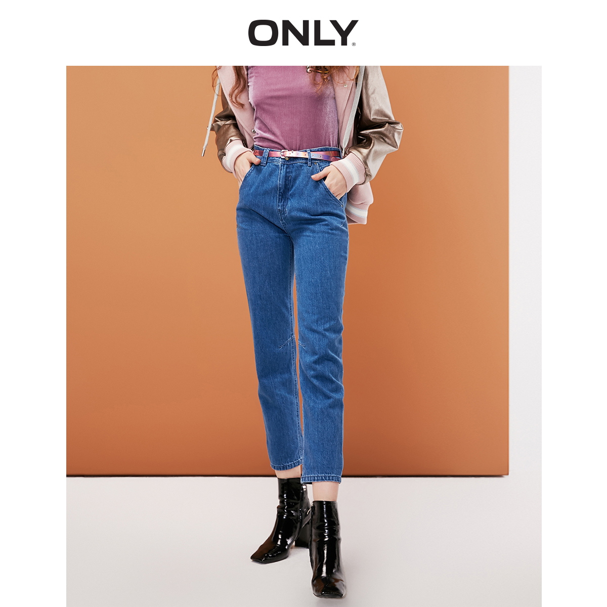 ONLY Women's Women's 100% Cotton Slim Fit Tight-leg Crop Jeans | 119149692