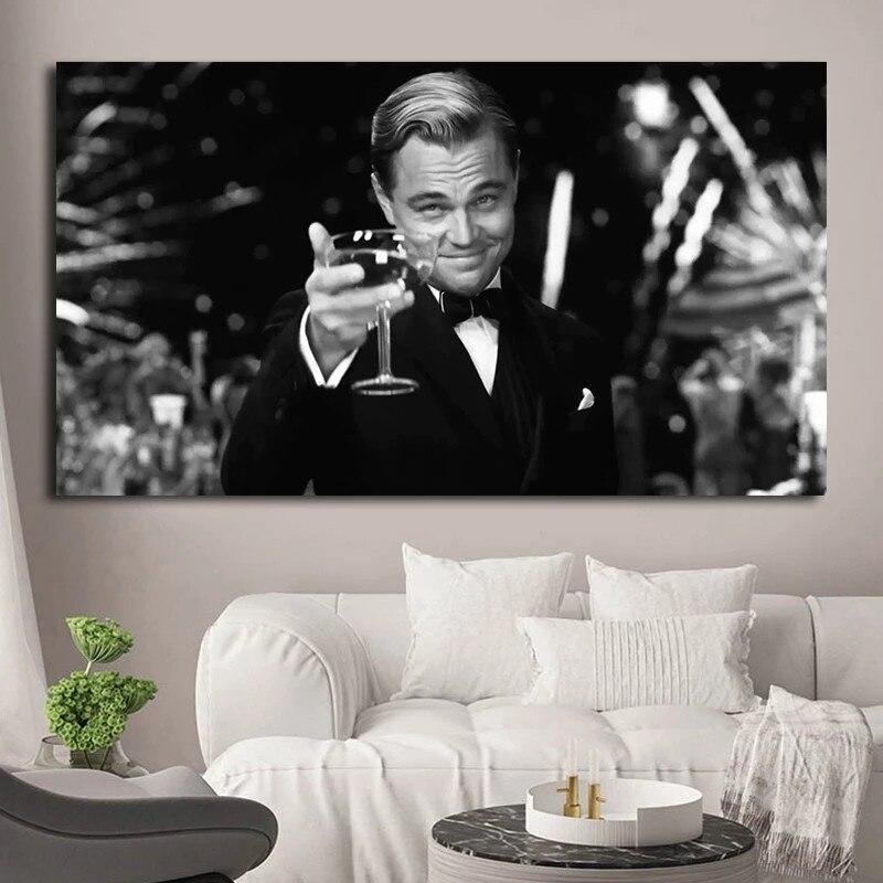 Картина из фильма «Великий Гэтсби» Леонардо ДиКаприо, постер на холсте, современная настенная Художественная печать, картины для декора го...