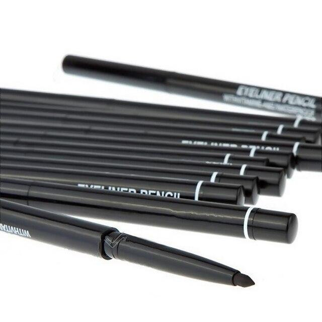 1Pcs Black Automatic Rotation Eyeliner Pencil Long Lasting Waterproof Liquid Eyeliner Pen Sweatproof Not Blooming Makeup TSLM2 3