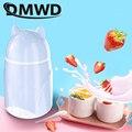 DMWD мини-йогурт  портативная электрическая автоматическая машина для брожения йогурта своими руками  контейнер для стеклянных чашек ЕС