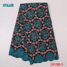 Высокое качество Самый популярный стиль африканская кружевная ткань швейцарская вышивка кружевной свадебный для невесты платье кружевная ткань YA2910B-5