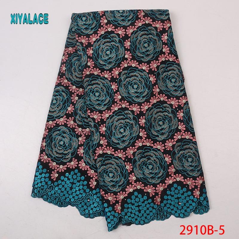 High Quality Most Popular New Style African Lace Fabric Switzerland Embroidery Lace  Wedding Bridal Dress Lace Fabric YA2910B-5