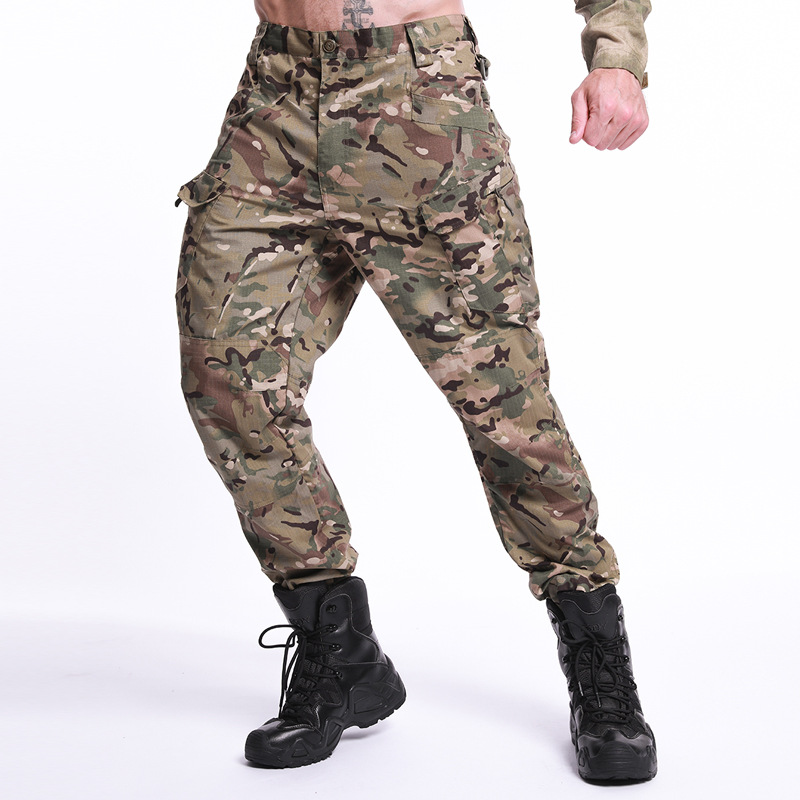 Army Hiking Climbing Quick Drying Pants Men Outdoor Thin Wearproof Spotrs Trousers Military Camouflage Tactical Training Pants