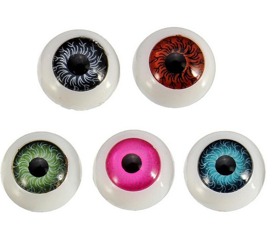 8 Pieces Hollow Clear Eyeballs Round Acrylic Eyes For Dolls Halloween Props