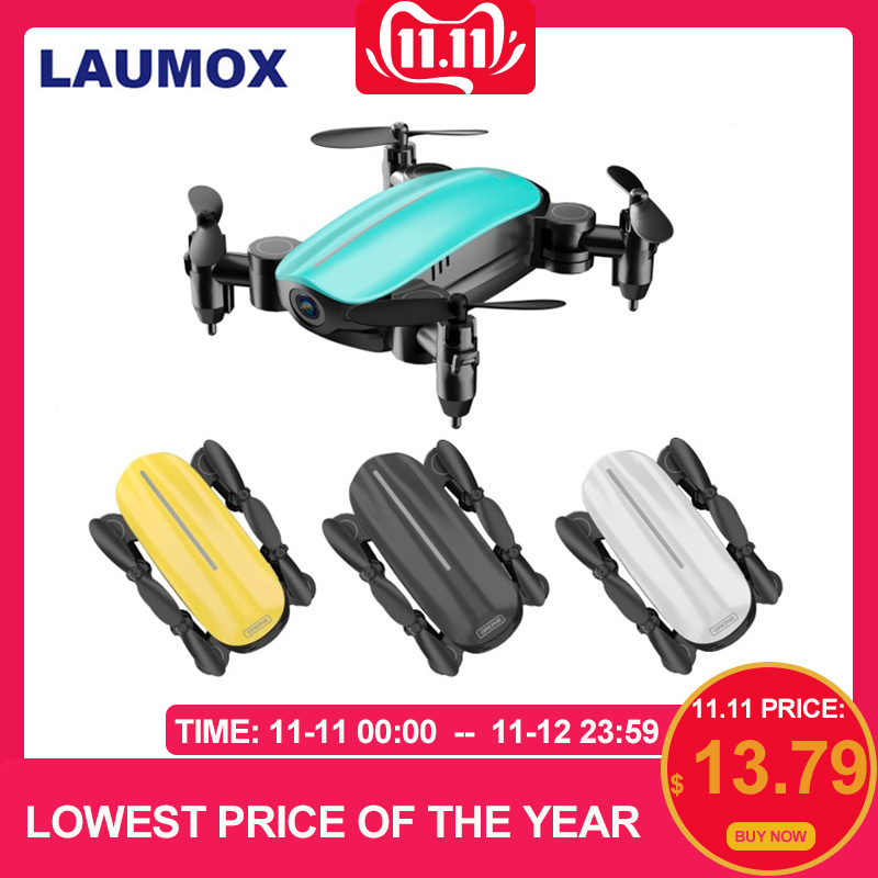LAUMOX T10 RC Drone With HD Camera Mini Drone WiFi FPV Foldable Quadcopter Helicopter Headless Mode Altitude Hold Selfie Drones