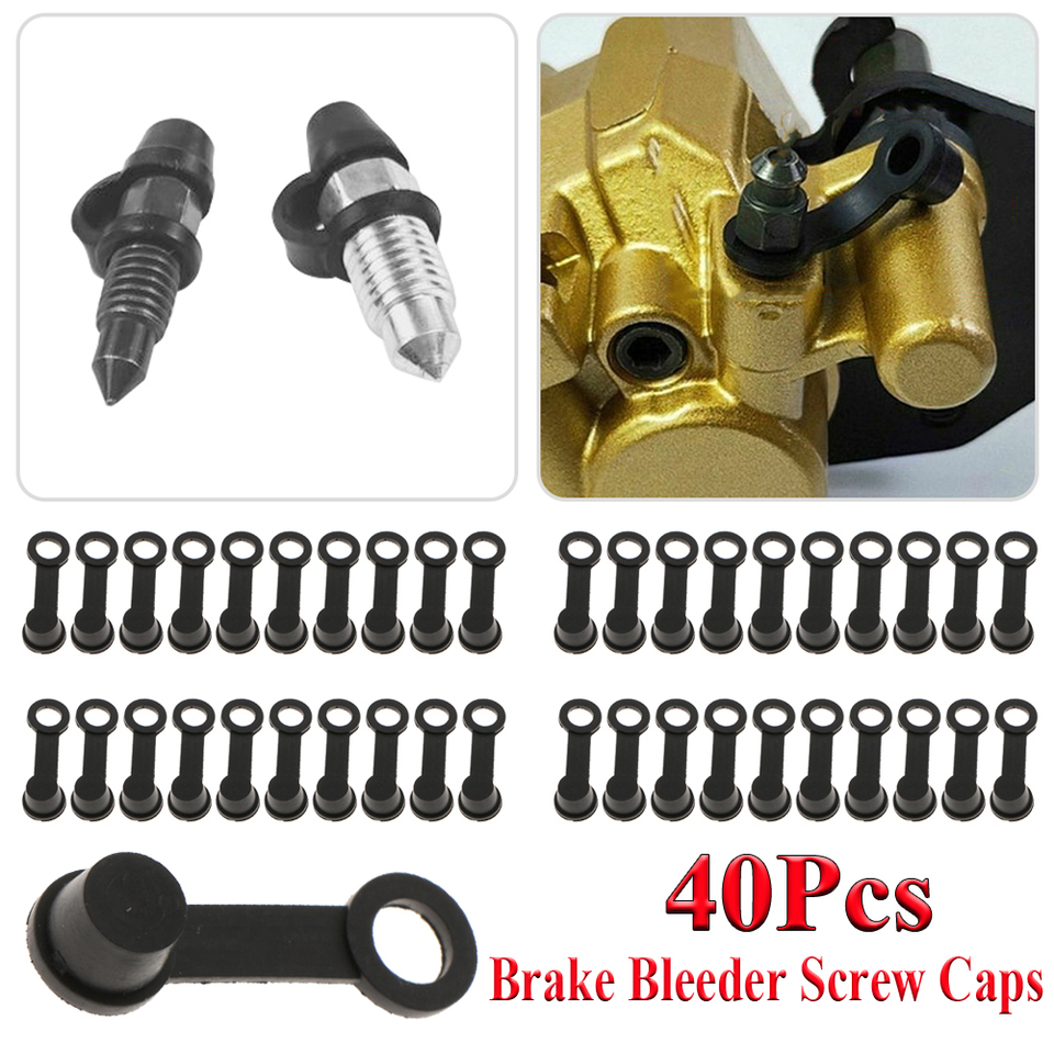 XtremeAmazing Brake Bleeder Screw Caps Grease Fitting Rubber Dust Cover for Motorcycle Motorbike Car Universal Pack of 25