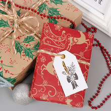 1pcs Snowflake Merry Christmas Paper wrapping paper Christmas Wedding green decoration Gift Wrap Artware Packing Package Paper very merry paper christmas