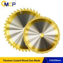 Диск для циркулярной пилы TCT 24T/40T/80T, режущий диск с титановым покрытием, твердосплавная пила, 1 шт., 210 мм/250 мм