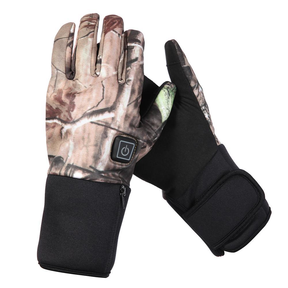 구세주 낚시 가열 장갑 사이클링 사냥 난방 장갑 방수 방풍 40-60 학위 카모 온난화 3 수준 SHGS19C