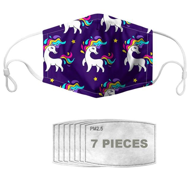 NOISYDESIGNS Mouth Mask With 7pcs Filters Face Cover Star Horse Prints Breathable Masques Reusable Kpop Mascherina 1