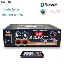 G50 800W Bluetooth 5.0 Amplifier HIFI AMP TF Card FM U Disk USB 12V 110V 220V Home Theater Power Amplifier Car Audio Subwoofer