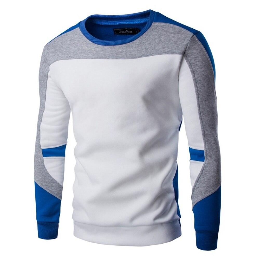 ZOGAA, Осень-зима, мужские свитера, хлопок, хип-хоп, лоскутные, сшитые, свитера, мужской, Повседневный, теплый свитер с круглым вырезом, облегающ...