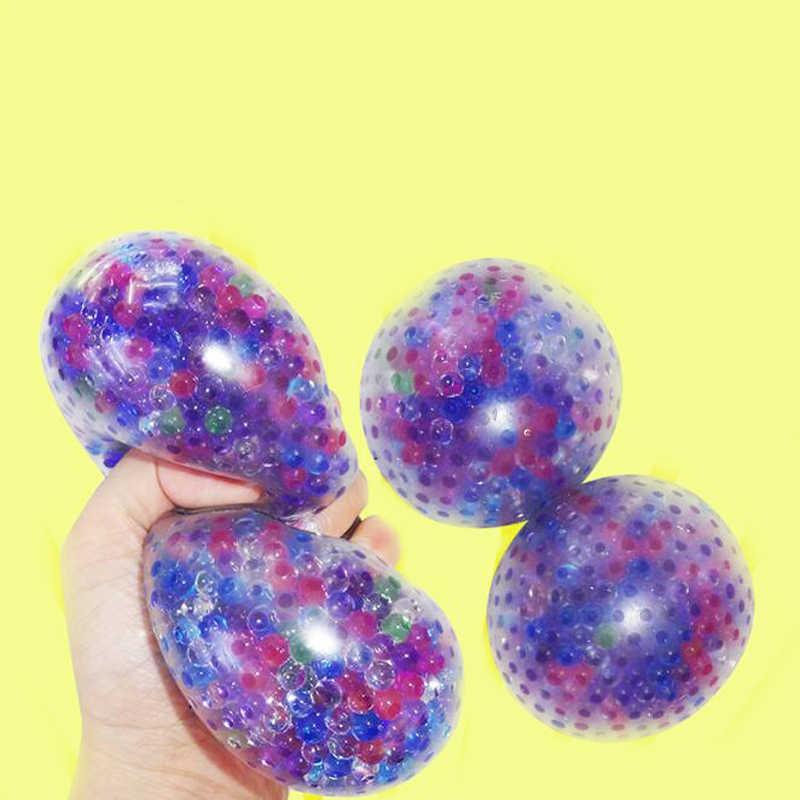 1pc 抗ストレスカラフルなメッシュスライムストレッチ抗ストレス遅い上昇ハンドボール Slimes 知育玩具子供のためのゲーム楽しいギフト