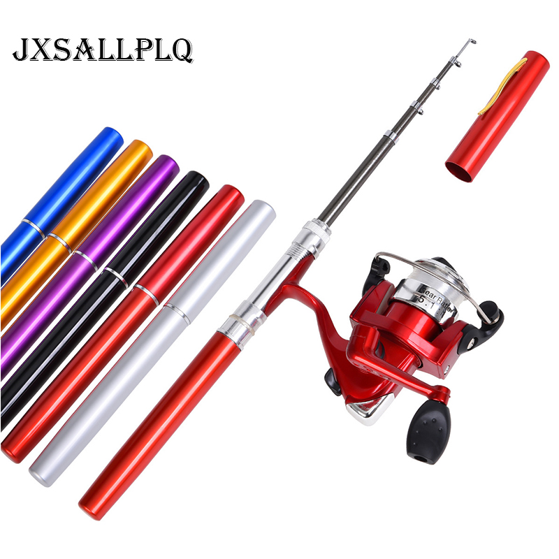 Mini Pen Appearance Fishing Rod Portable Rotating Wheel Fishing Rod 1 Piece Winter Outdoor Fishing Rod Fishing Accessories