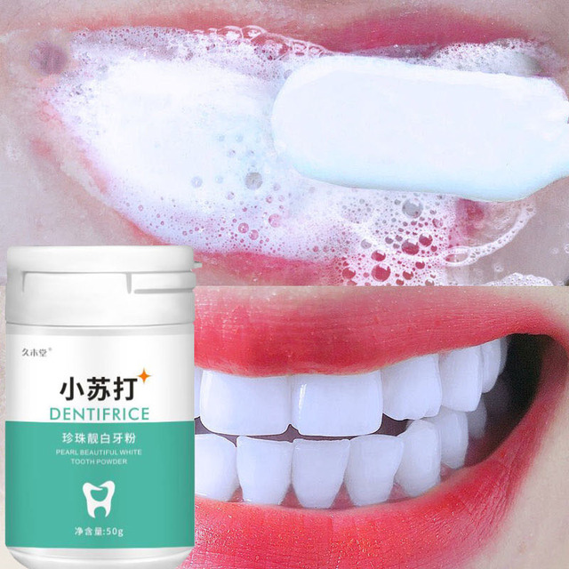 Teeth whitening 50 grams remove smoke stains coffee stains tea stains fresh breath bad breath oral hygiene dental care