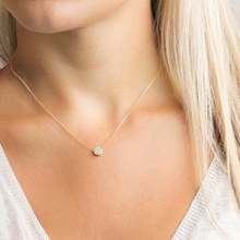 Laramoi 925 Sterling Silver Gold Plated Round Circle Imbue Diamond Necklace 2019 New Fashion Jewelry Choker for Woman Girls
