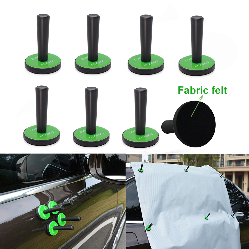 FOSHIO 2/4/8pcs Car Accessories Vinyl Wrapping Film Stickers Magnet Holder Fix Tool Carbon Fiber Wrap Styling Window Tinting