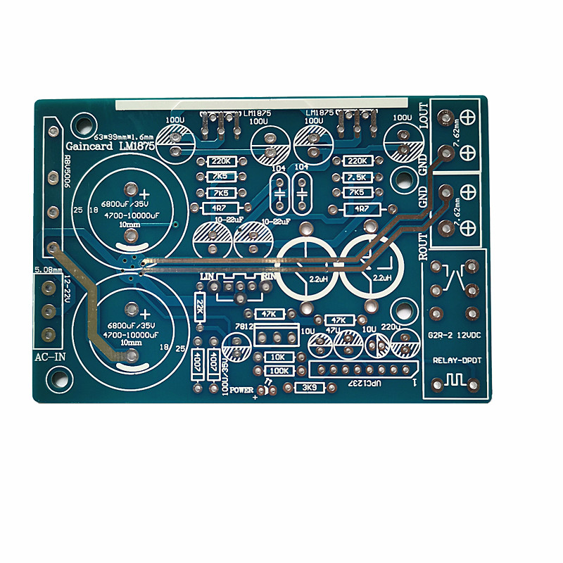 LM1875  Amplifier PCB  Stereo  Gaincard GC Version LM1875 Low Distortion AMP PCB No Components