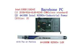 1U j1900 firewall router pfsense router server / firewall server with J1900 2.0GHz 4*82583V 1000mbps Lans 4 lan - Category 🛒 Computer & Office