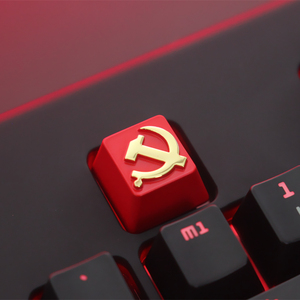 Image 3 - KeyStone Keycap 1 stücke Sowjetischen thema aluminium legierung metall mechanische tastaturen tastenkappen R4 höhe für Cherry MX achse
