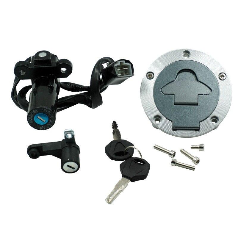 Fuel Tank Cover Lgnition Start Switch Helmet Seat Lock Set two Keys Motorcycle Full set lock FOR Yamaha YZF R3 RH07 RH12