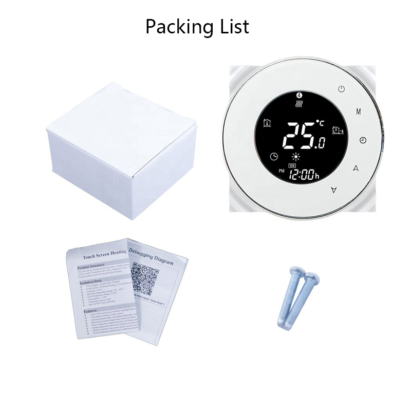 Wifi Smart Water/Gas Boiler Thermostat Tuya Remote Control Backlight Weekly Programmable LCD Touch Screen Temperature Controller 6