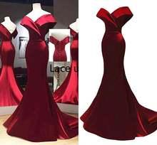 Бордовое вечернее платье Русалочки для выпускного вечера в африканском