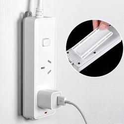 2PCS Wall Mounted Sticker Punch free Plug Fixer Home Self Adhesive Socket Organizer Seamless Power Strip Patch Panel  Holder|Haki i szyny|Dom i ogród -
