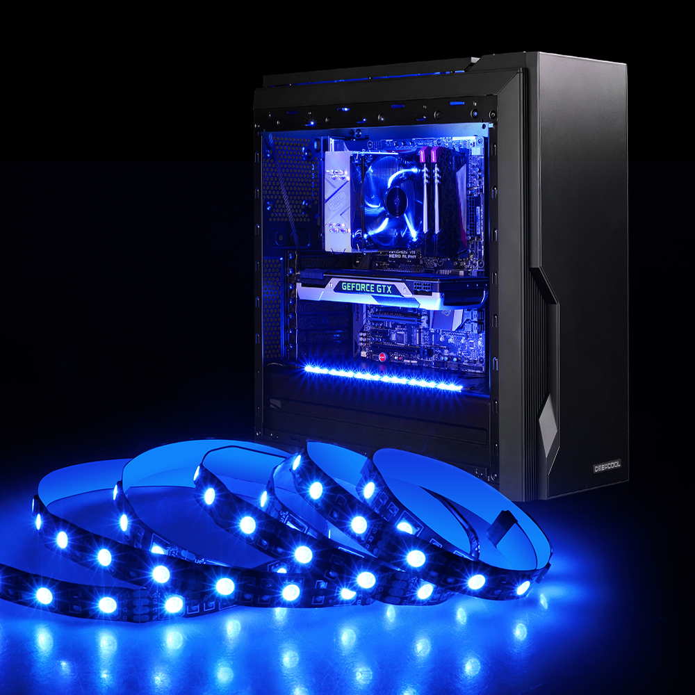 12V RGB 4pin PC Motherboard LED Strip Light 5050 RGB For PC Computer Case Decor, RGB Motherboard Control Panel Change Colors