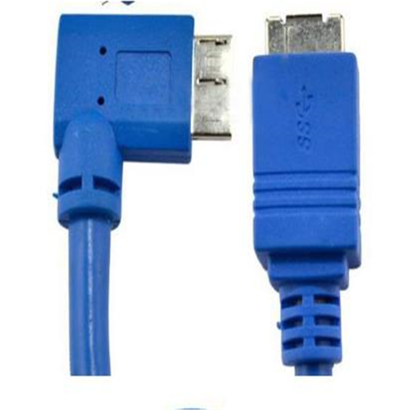 USB 3 0 cable USB 3 0 MICRO male elbow to B mother data cable 30cm used in hard disk box printer scanner etc in Computer Cables Connectors from Computer Office