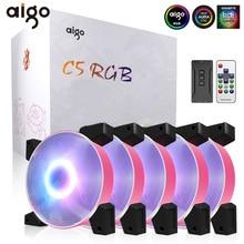 Aigo New RGB Fan 120mm LED PC Computer Case Fans ARGB Quiet Remote 5v 3pin Aura Sync Computer CPU Cooler Cooling Adjust Case Fan