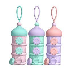 1Set Draagbare 3 Layer Container Melk Power Opslag Dispenser Doos Voor Kids Babies K1KC