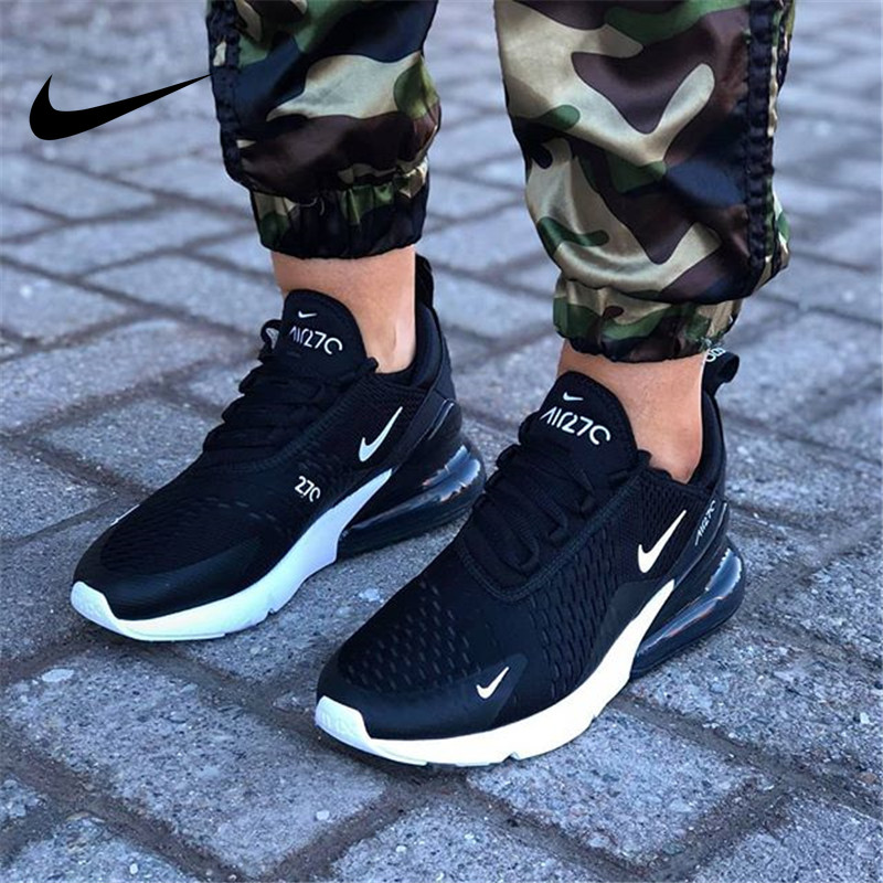 Nike <font><b>Air</b></font> <font><b>Max</b></font> <font><b>270</b></font> Running Shoes Men <font><b>Women</b></font> Outdoor Sports Walking Athletic Unisex Sneakers 100%Original Authentic NEW Hot Sale image