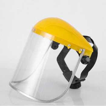 Protective Visor Protective Eye and Head Visor with Ratchet Headgear Protective Mask for Yellow Facial Mask