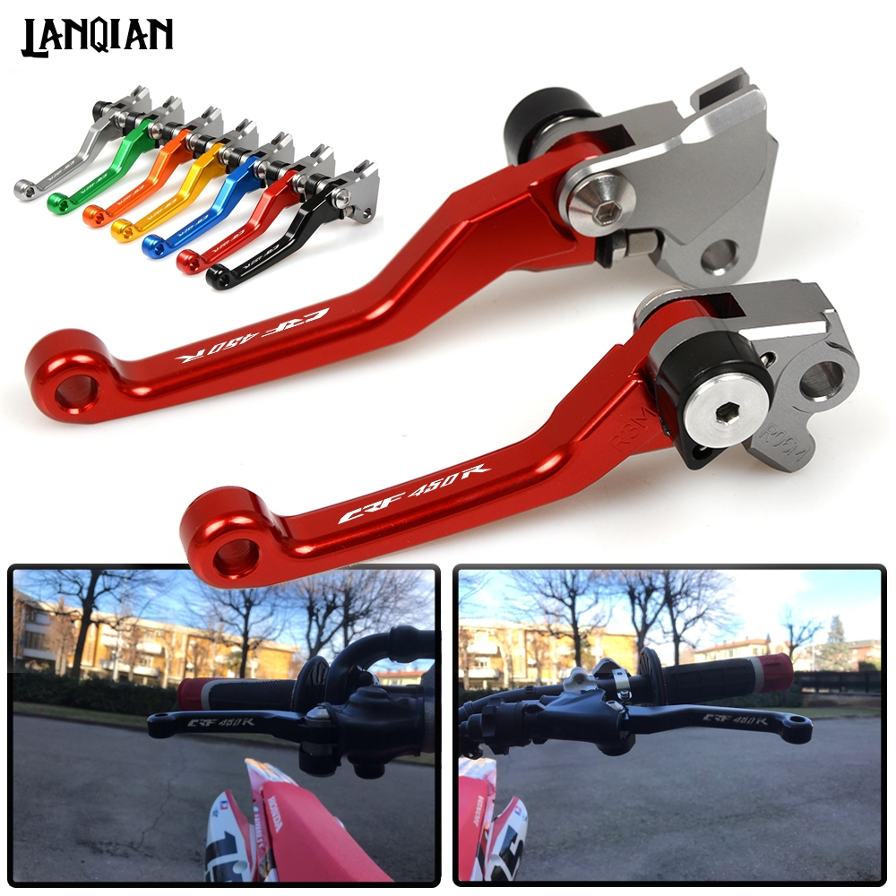 For Honda <font><b>CRF450R</b></font> Motorcycle Dirt bike Pivot Brake Clutch Levers <font><b>CRF450R</b></font> CRF 450R 2007-2018 2019 CRF 450 R CRF-R 450 Accessories image