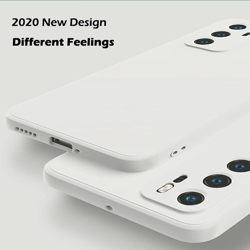 Жидкий силиконовый чехол для Huawei P40 P30 P20 Pro, полностью защитный чехол для камеры Huawei Mate 20 30 Pro для Honor 30S Pro, чехол|Специальные чехлы|   | АлиЭкспресс