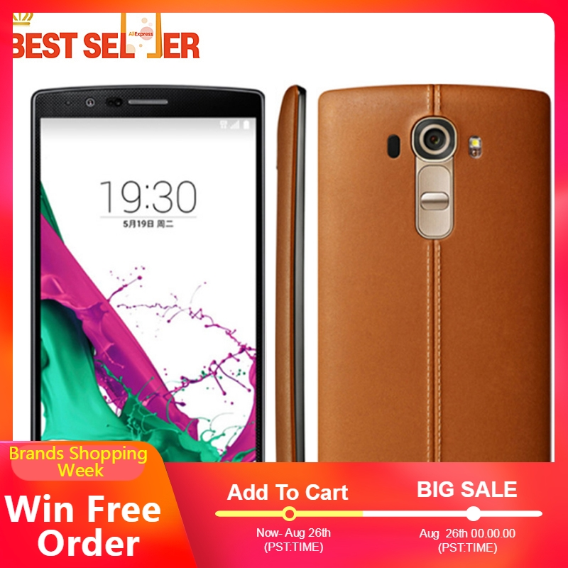Original Unlocked LG G4 4G LTE Mobile Phones H815 H810 H811 Android Hexa Core 5.5 inch 16MP Camera Dual Sim ROM 32GB WIFI GPS-in Cellphones from Cellphones & Telecommunications    1