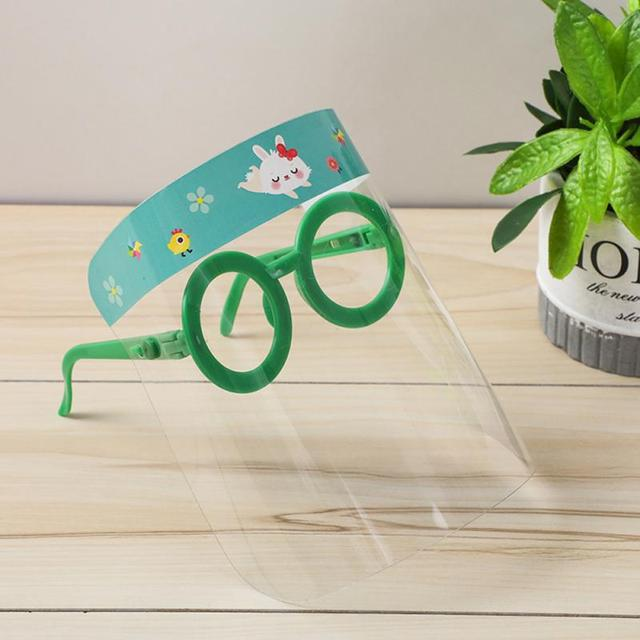 New Child Protective Face Mask+Glasses Cute Cartoon Anti-fog Dust-proof Anti-spatter Waterproof Safety Full Facial Cover Shield 5