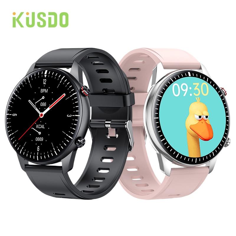 Смарт-часы KUSDO для мужчин и женщин, сенсорный экран 2021 дюйма, водостойкие, IP67
