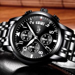 Image 2 - Mens นาฬิกาควอตซ์กันน้ำธุรกิจนาฬิกา LIGE แบรนด์หรูผู้ชาย Casual กีฬานาฬิกาชาย Relogio Masculino relojes hombre